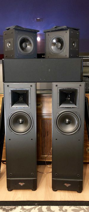 NAD 7.1 Receiver + Klipsch Towers + Mirage Center Channel + NAD 533 TurnTable + 80 Vinyls. for Sale in Margate, FL