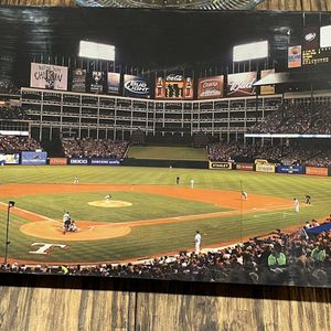 Texas Rangers Panoramic Picture - Rangers Ballpark MLB Wall Decor for Sale in Rockwall, TX