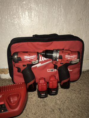 Milwaukee M12 FUEL Drill/Hammer Drill & Milwaukee M12 FUEL Surge Impact for Sale in Denver, CO