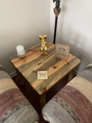 Beetle Kill Pine End Table for Sale in Longmont, CO