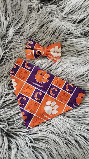 Clemson Dog Bandana & Bow Tie for Sale in Downers Grove, IL
