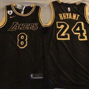 Los Angeles Lakers Kobe Bryant 8/24 Mamba Skin Jersey( L,XL &XXL) for Sale in Santa Maria, CA