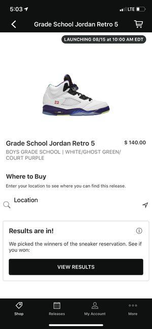 Air Jordan retro 5 for Sale in Maiden, NC
