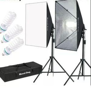 "MOUNTDOG 1350W Softbox Lighting Kit Photography Studio (2 Softbox with 3 Bulbs) MOUNTDOG Softbox Lighting Kit Photography Studio Light 20""X28"" Profe for Sale in Cumming, GA"