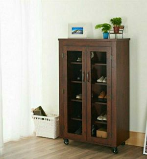 Storage Cabinet in Vintage Walnut Finish for Sale in Chino, CA