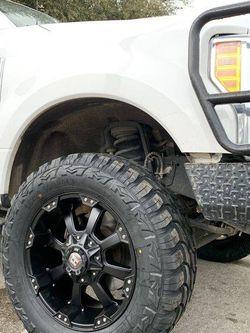"""New 20"""" Ford Factory Rims and Tires Factory Stock Wheels F250 F350 Super duty 20s Rines Negros Y Llantas nuevas Fuel Fuels Motometal Moto Metal Metals for Sale in Dallas,  TX"""