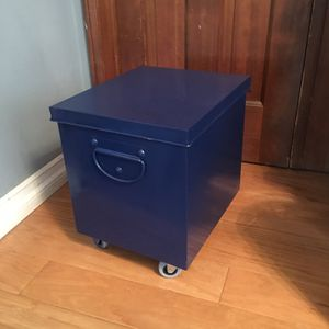 Blue Gold File Cabinet Or Storage on Wheels for Sale in La Crescenta-Montrose, CA