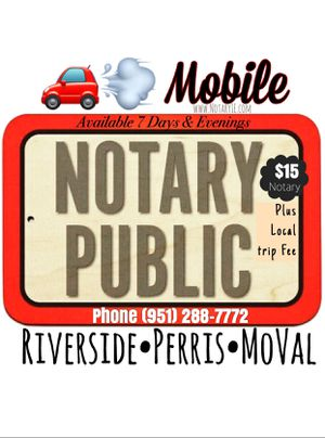 Notary Public for Sale in Perris, CA