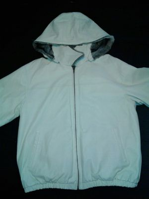 Mens reversible leather bomber coat for Sale in Cleveland, OH