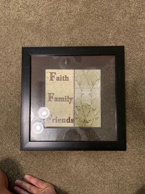 """""""Faith, Family, Friends"""" Wall Decoration for Sale in Rock Island, IL"""