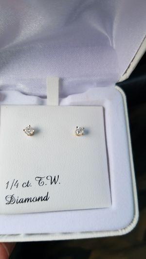 Diamond earrings for Sale in Danville, PA