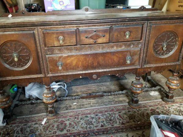Antique buffet and china closet
