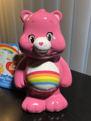 Care Bears Cheer Baby Hugs Coin Bank Pink Girls Rainbow Kenner Toys 1980s for Sale in Tampa, FL