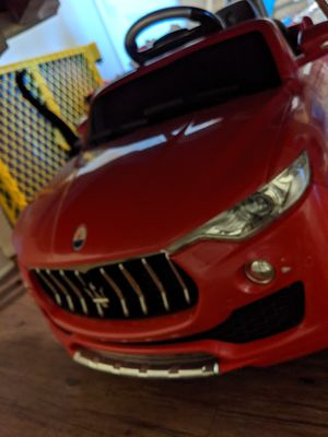 Kids ride on toy car Maserati for Sale in Laurel, MD
