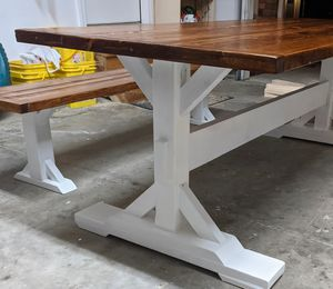 Farmhouse Kitchen Table - Custom Locally Made for Sale in Graham, NC