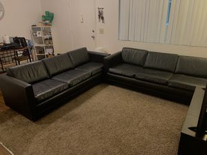 Black Leather Sofas for Sale in San Diego, CA