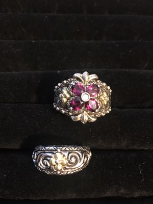 Women's sterling silver (stamped 925) semi precious stone ring. Size 7/8 for Sale in Gresham, OR