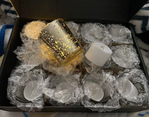 12 x CHRISTMAS HOLIDAY CANDLE HOLDERS w/ LED TEALIGHTS INCLUDED NEW! for Sale in Denver, CO