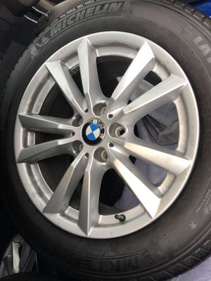 4 Brand new MICHELIN TIRES 255/55/R18 with BMW wheels X5 for $180 each for Sale in Baltimore, MD
