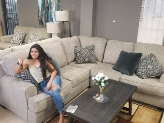 🎁🎀👋 ASHLEY SECTIONAL OVER SIZE SPECIAL FABRIC FINANCE AVAILABLE $27DOWN PAYMENT ONLY for Sale in Houston,  TX