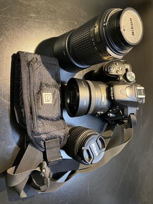 Nikon D5300 with lenses and accessories for Sale in Lancaster, CA