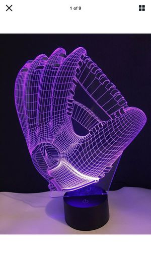 Baseball glove 3D led lamp changing colors for Sale in Windermere, FL