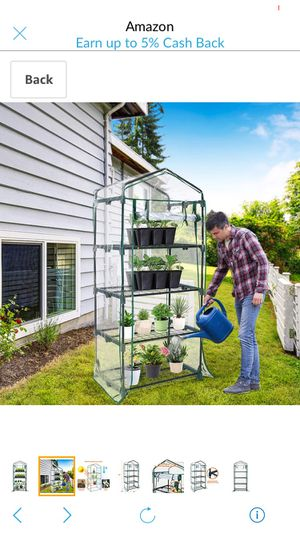 """Mini Greenhouse 4-Tier 27"""" X 19"""" X 63"""" Portable Plant Greenhouse for Indoor/Outdoor Gardens, Patios, Backyards Plant Shelves, Ideal for Growing Seeds for Sale in Pullman, MI"""