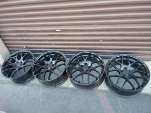 Black 20 inch aluminum rims. 5 on 115mm dodge, Ford, Chevy, more for Sale in Montebello, CA