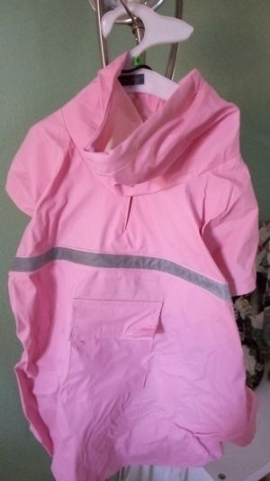 New dog rain jacket size large for Sale in Mission Viejo, CA