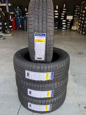 BRAND NEW SET OF GOODYEAR TIRES 205/55/16 for Sale in Rialto, CA