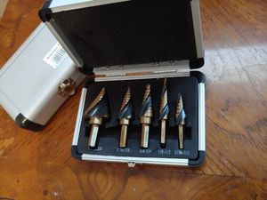 Professional Cobalt Spiral Flute Step Drill Bit Set SAE Standard Industrial for Sale in Tomball, TX