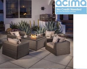 Patio furniture set with fire pit for Sale in Norco, CA