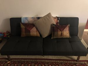 Futon sofa foldable converts to bed for Sale in Manassas, VA