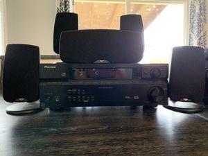 Pioneer amp and Klipsch Quintet III Surround Sound Setup for Sale in Hillsboro, OR