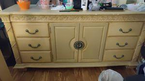 Bed frame Headboard and Dresser w/mirror Bedroom set 275$ obo for Sale in Framingham, MA