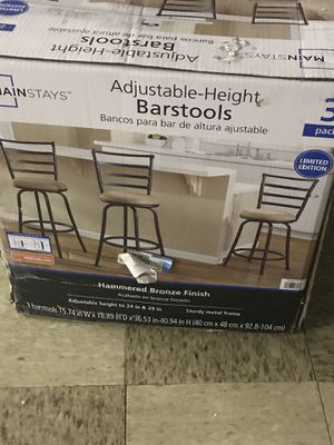 Bar stools new box never opened for Sale in San Antonio, TX