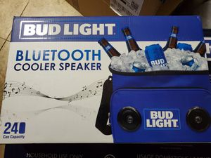 Bud Light brand Cooler with Bluetooth speakers. for Sale in Queens, NY