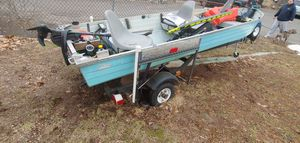 1973 Sunday with trolling motor electric anchor and depth finder for Sale in Meriden, CT