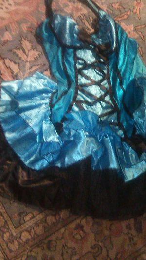 Halloween costume Fantasy Fairysmall adult 0 like new Blue and blaxk for Sale in Oceanside, CA
