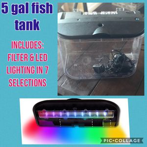 5 gal fish tank for Sale in Henderson, KY