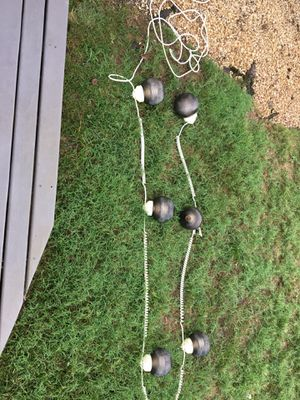Patio or camper lights. 6 lights, 110 volt, 15 foot strand for Sale in Virginia Beach, VA