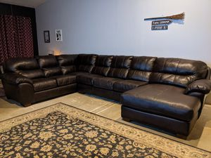 Leather Sectional Couch for Sale in Chandler, AZ