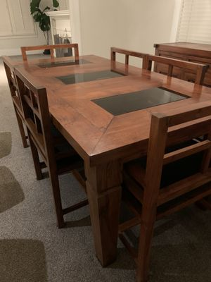 Solid Teak Indonesian Dining Table Set for Sale in San Francisco, CA