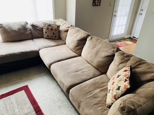 Sectional couch must go $100 for Sale in Jonesboro, GA