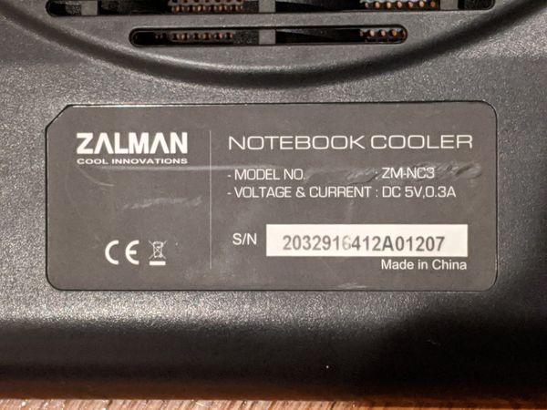 Zalman ZM-NC3, 17inch Ultra Quiet Laptop Cooler, Cooling Fan For Notebook