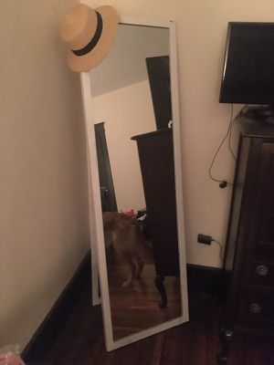 Long white standing mirror for Sale in Nashville, TN