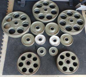 Ivanko Olympic Revolver Plate set OM Series: 455 lbs for Sale in Elk Grove, CA