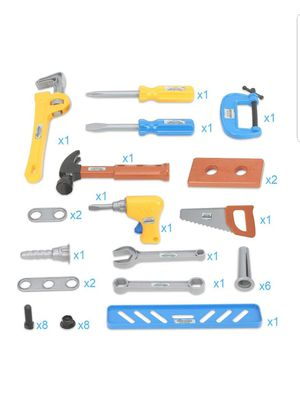 Tools,Boys Construction Play Tools Kit with for Educational Toys Birthday Present for Kids (40PCs) for Sale in Silver Spring, MD
