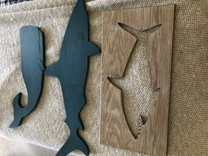 Shark and whale decorations for Sale in Bristol, RI