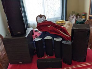 Harman kardon and onkio speakers set for Sale in South San Francisco, CA